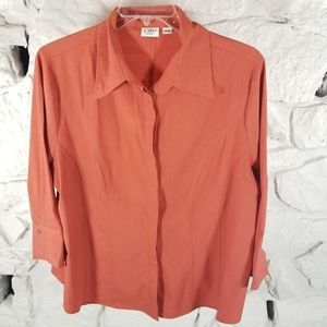 Cato Woman Sz 18/20 3/4 Sleeve Button Front Blouse